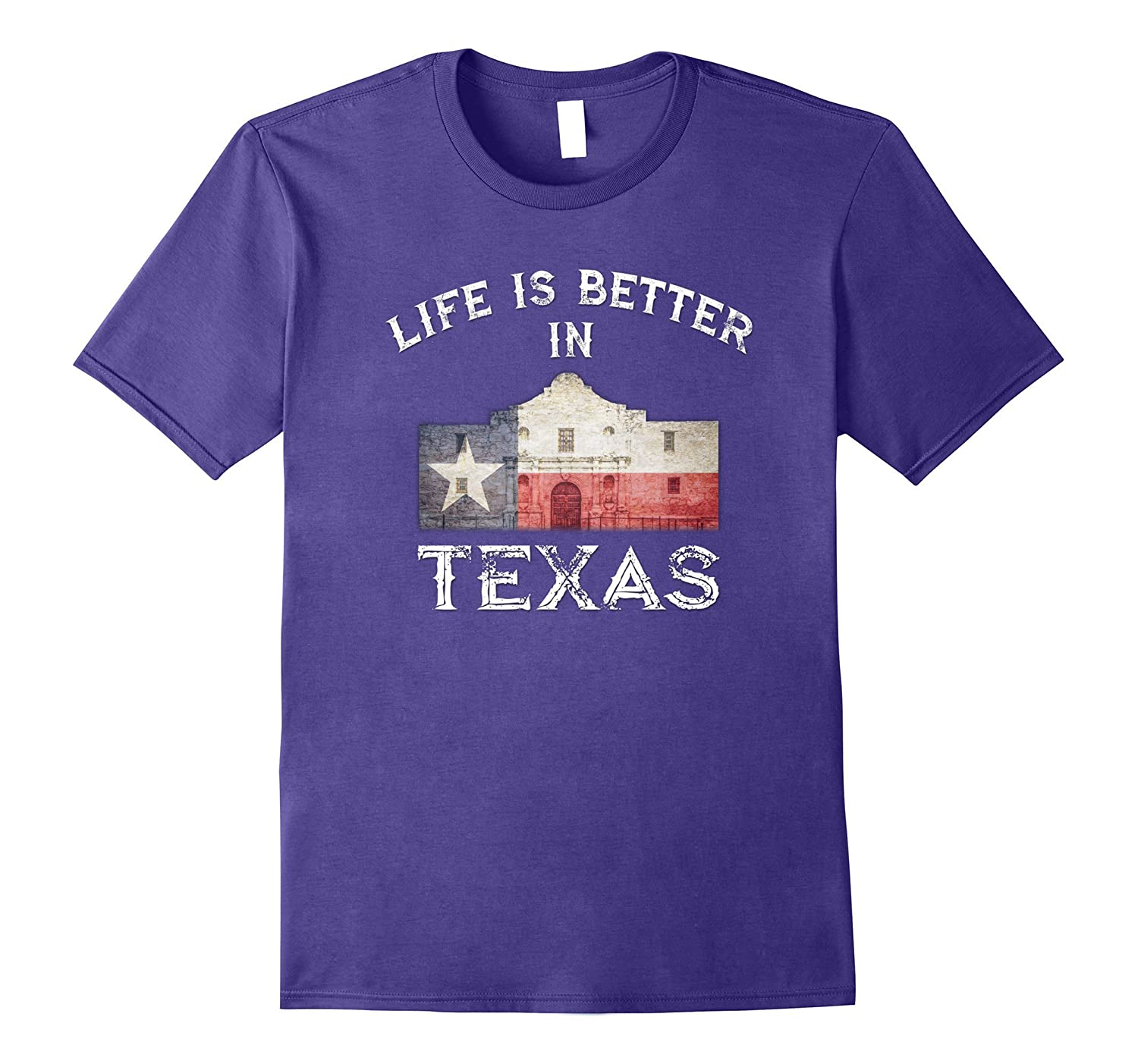 Life Is Better In Texas Vintage Flag T-Shirt-FL