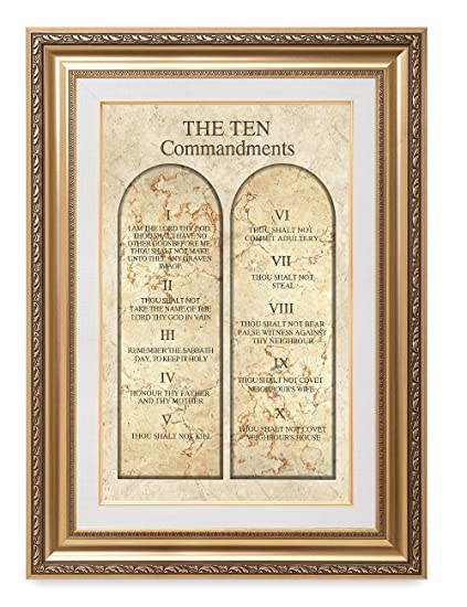 Amazon.com: DECORARTS THE TEN COMMANDMENTS. Giclee Print wall art ...