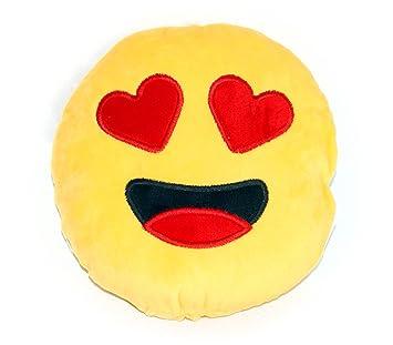 Deko de emoticono de peluche cojín de sofá cojín de peluche Diseño: Corazón Ojos