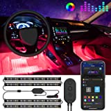Govee Interior Car Lights, Car LED Strip Light Upgrade Two-Line Design Waterproof 4pcs 48 LED APP Controller Lighting…