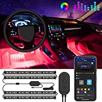 Govee Interior Car Lights, Car LED Strip Light Upgrade Two-Line Design Waterproof 4pcs 48 LED APP Controller Lighting…