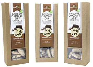 Simply Sweet Bakeshop Super Chunk Chocolate Chip Dessert Cookies, 6 Ounces,  3-Pack
