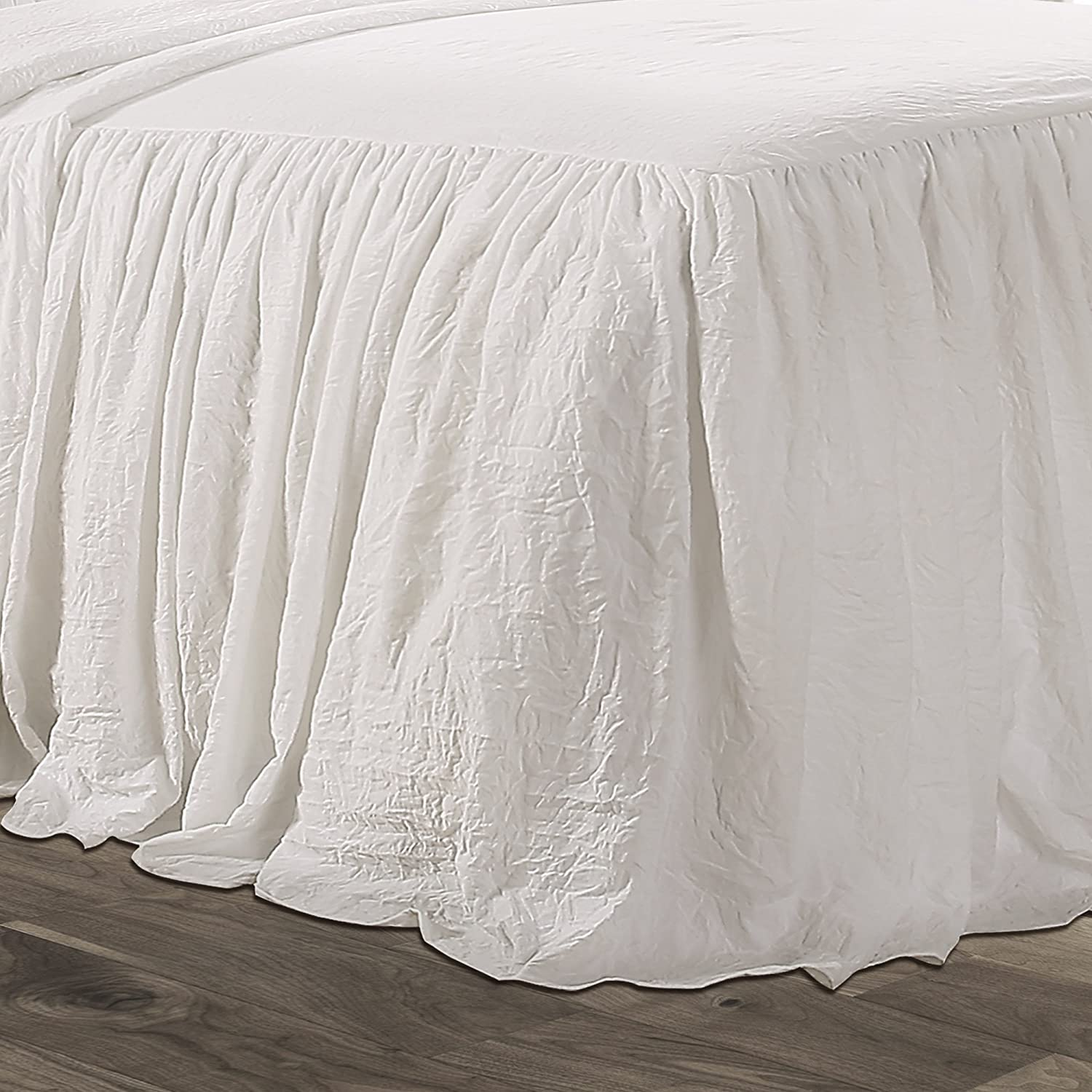 """1 MULTI LAYERED RUFFLE BEDDING BED SKIRT 20/""""INCH DROP FRENCH DESIGN GYPSY SKIRT"""