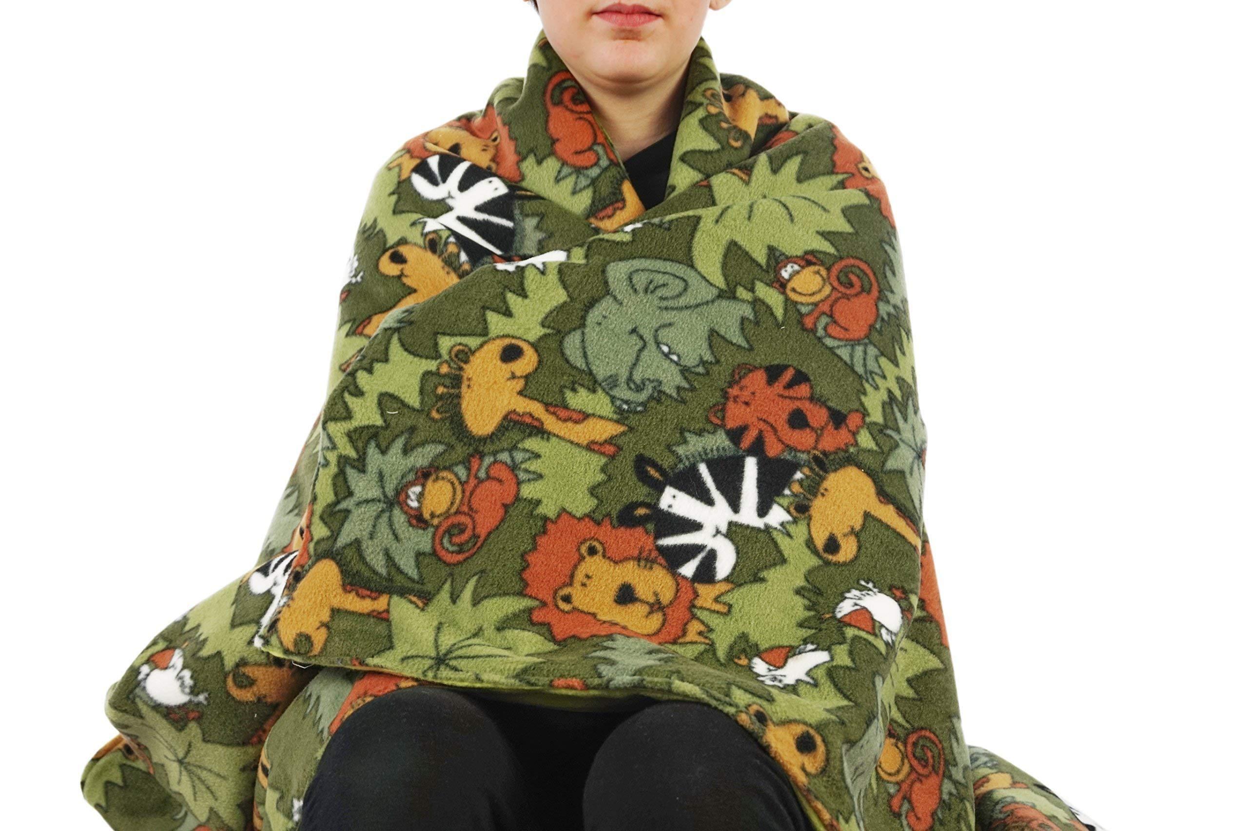 Fleece throw blanket- Jungle animals
