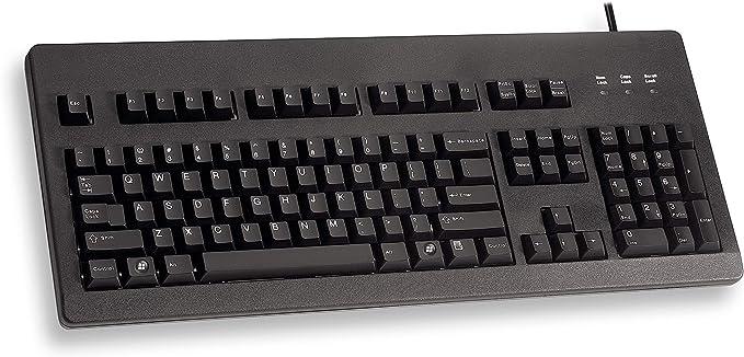 Cherry STD Keyboard G80-3000 klick USB Black (US) Inglés de Estados Unidos con el símbolo del Euro