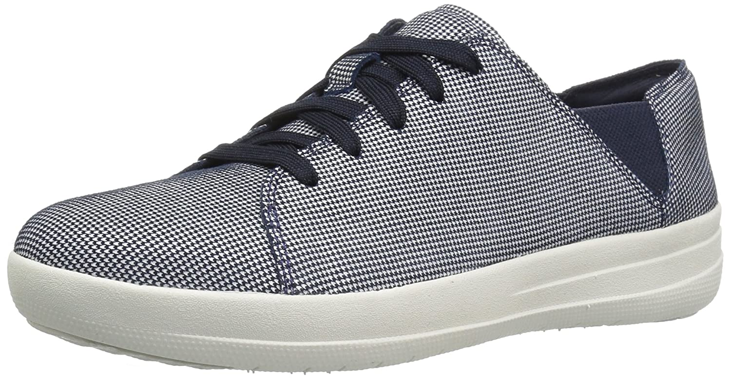 FitFlop Women's F-Sporty Lace-up Houndstooth Print Fashion Sneaker B06XY8CBGT 7 B(M) US|Midnight Navy