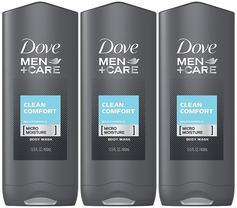Amazon Com Dove Men Care Body Face Wash Clean Comfort 13 50 Oz Pack Of 3 2 16 Lb Bath And Shower Gels Beauty