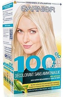 garnier 100 ultra blond dcoloration sans ammoniaque dcolorant sans ammoniaque - Coloration Blond Cendr Sans Amoniaque