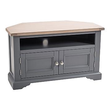 reputable site 4e03e f3f35 Maine Furniture Co. Faversham Dove Grey Corner TV Stand ...