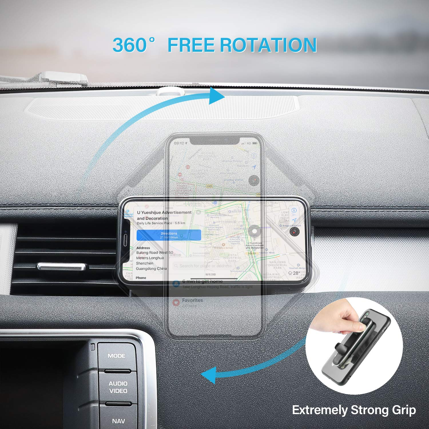 da3fac8c148 Amazon.com  Magnetic Car Phone Mount Air Vent Magnetic Cell Phone Holder  Rectangle Car Magnet Phone Mount Powerful Magnet Extra Strong Fast  Attachment Dual ...