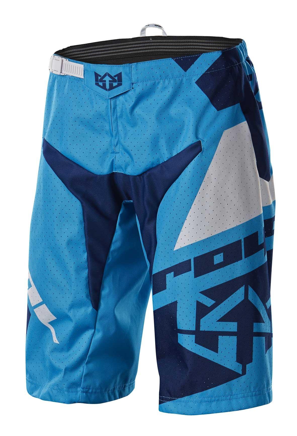 Royal Racing Victory Race Shorts, Cyan Blue/Navy Blue/White, Medium