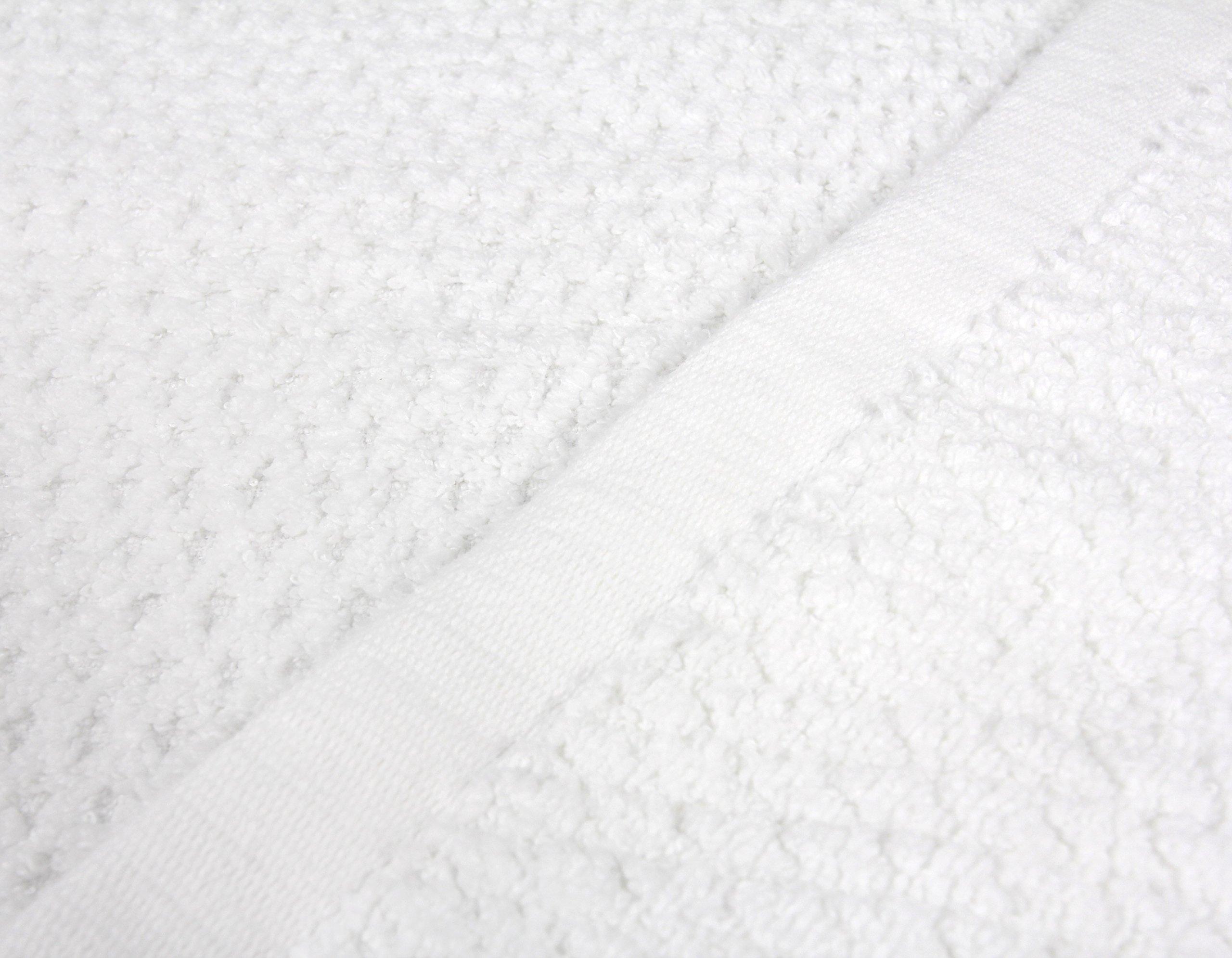 Everplush Diamond Jacquard Bath Sheet 2 Pack in White by Everplush (Image #2)