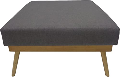 Christopher Knight Home Aria Mid Century Fabric Ottoman, Grey Natural