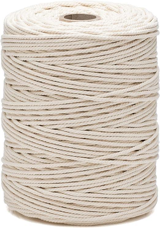 La cordeline CJN190 - Rollo de algodón con Cable, Color Natural ...