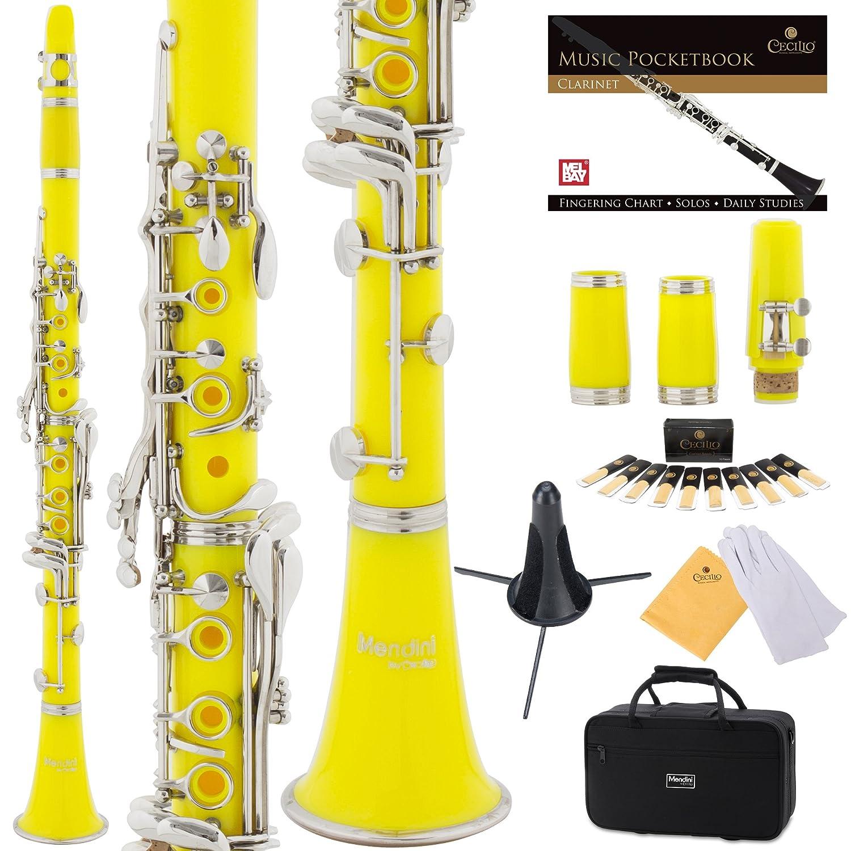 Clarinete amarillo Mendini con funda y accesorios (xmp)
