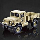 RC Militär Truck 1:16 mit 2,4Ghz, Allradantrieb von Heng Long - Neuheit (Braun)