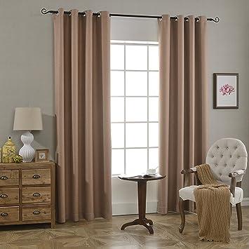 Foulola Blackout Thermo Tülle Vorhang Panels, Bettwäsche, Creative  Doppelseitig Design (Pure Color Und