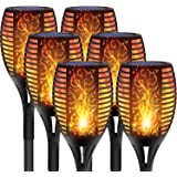 DIKAIDA 6PCs Solar Torch Lights, Upgrade Outdoor Tiki Light, 96 LED Waterproof Flickering Flame Torches, Landscape…