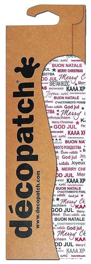 Decopatch Papier /Übersetzungen Merry Christmas Mehrfarbig Farbe 3 St/ück