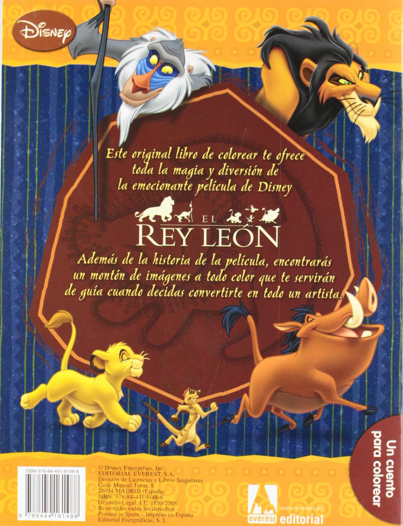 El Rey León: un cuento para colorear: Amazon.es: Walt Disney Company, Walt Disney Company, Chaves Sanz Yolanda: Libros