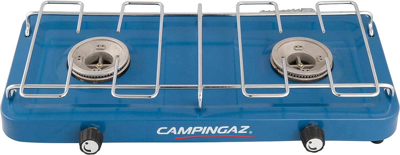 """2-flammig Blau Gaskocher mit Deckel Campingaz /""""Base Camp with Lid/"""""""