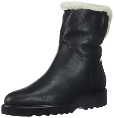 Aquatalia Women's Kimberly Tumb Caf/Shearling Ankle Boot