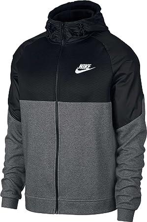 Nike Sportswear Advance 15 Hoodie FZ Ssnl, Sudadera con Capucha, Hombre, Charcoal Heathr