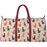Signare Femmes Dames Tapisserie Mode Voyage Bagage Grand sac Chat