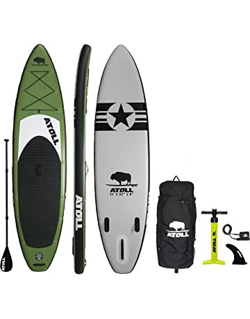 7063307d3 Atoll 11  Foot Inflatable Stand Up Paddle Board (6 Inches Thick