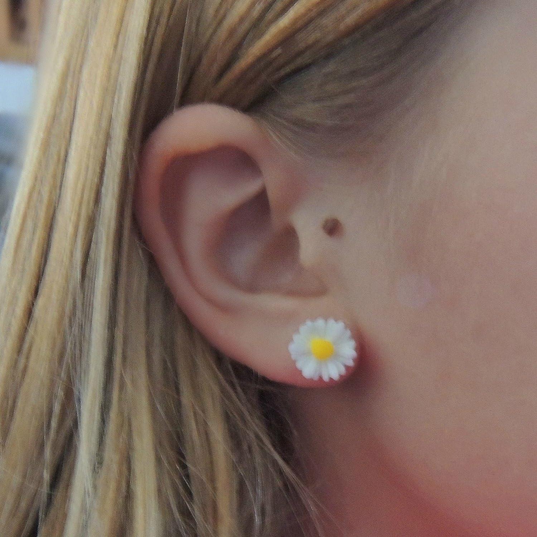 Amazon: Daisy Earrings Metal Free Plastic Post Earrings For Sensitive  Ears: Handmade