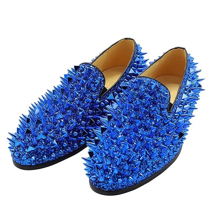 QVRGE Zapatos Casuales De Los Hombres Lentejuelas Remaches ...