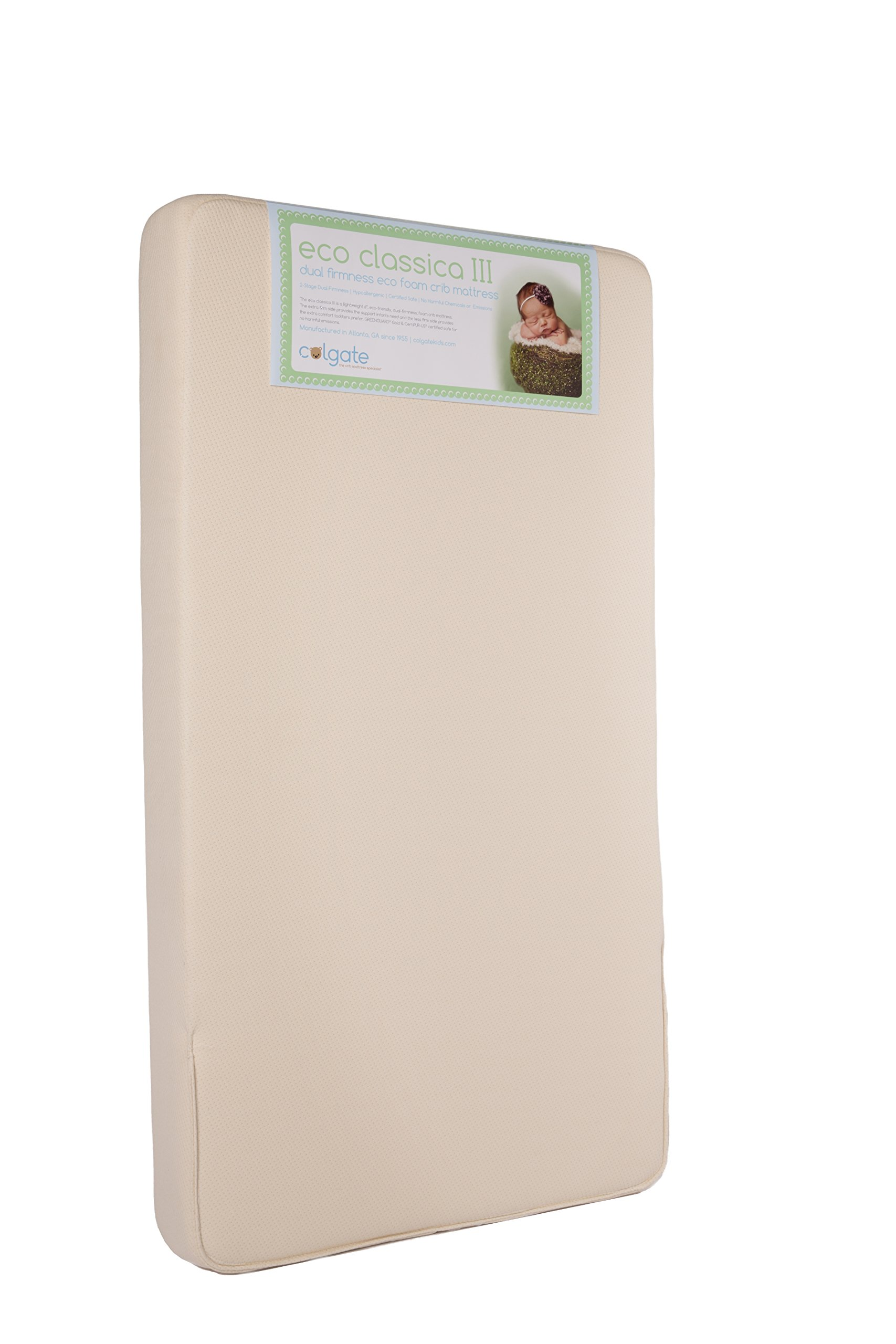 Colgate Eco Classica III Dual firmness Eco-Friendlier Crib mattress, Organic Cotton Cover product