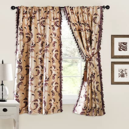 Deco Window Jasmine Polyester Window Curtain - 5 ft, Multicolour Curtains at amazon