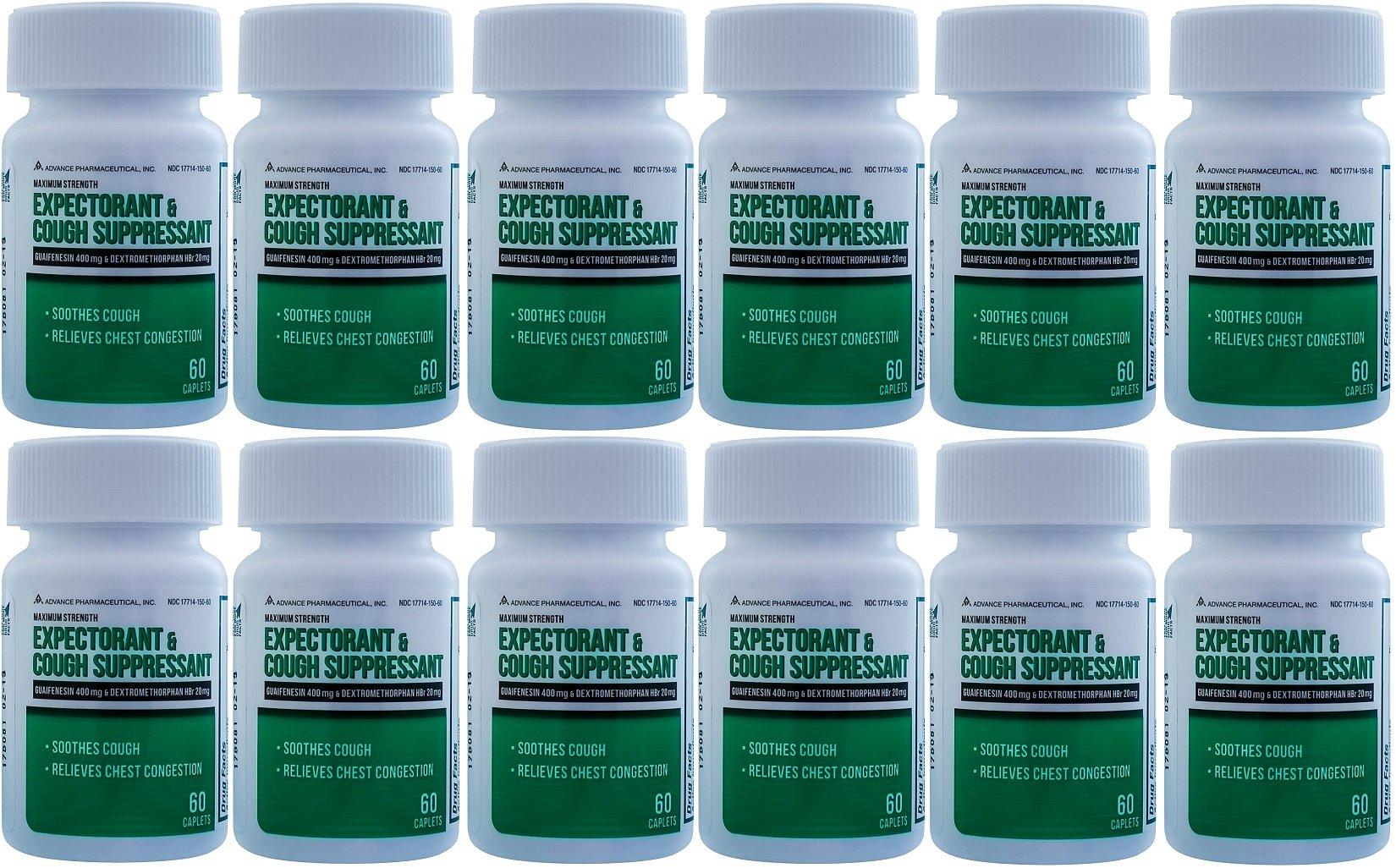 Mucus DM Expectorant Cough Suppressant 720 Caplets Generic DM Cough