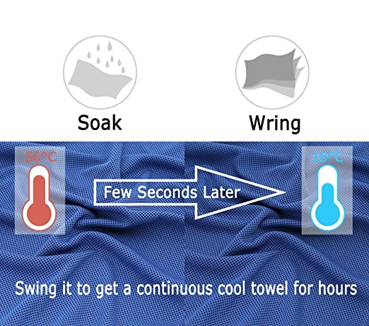 Barrageon Cooling Towel for Instant Heat Relief Pilates Camping Yoga Cool Towel with Carry Bottle for Sports Chilling Neck Wrap Women Workout Ice Cold Scarf for Men Kids and pets
