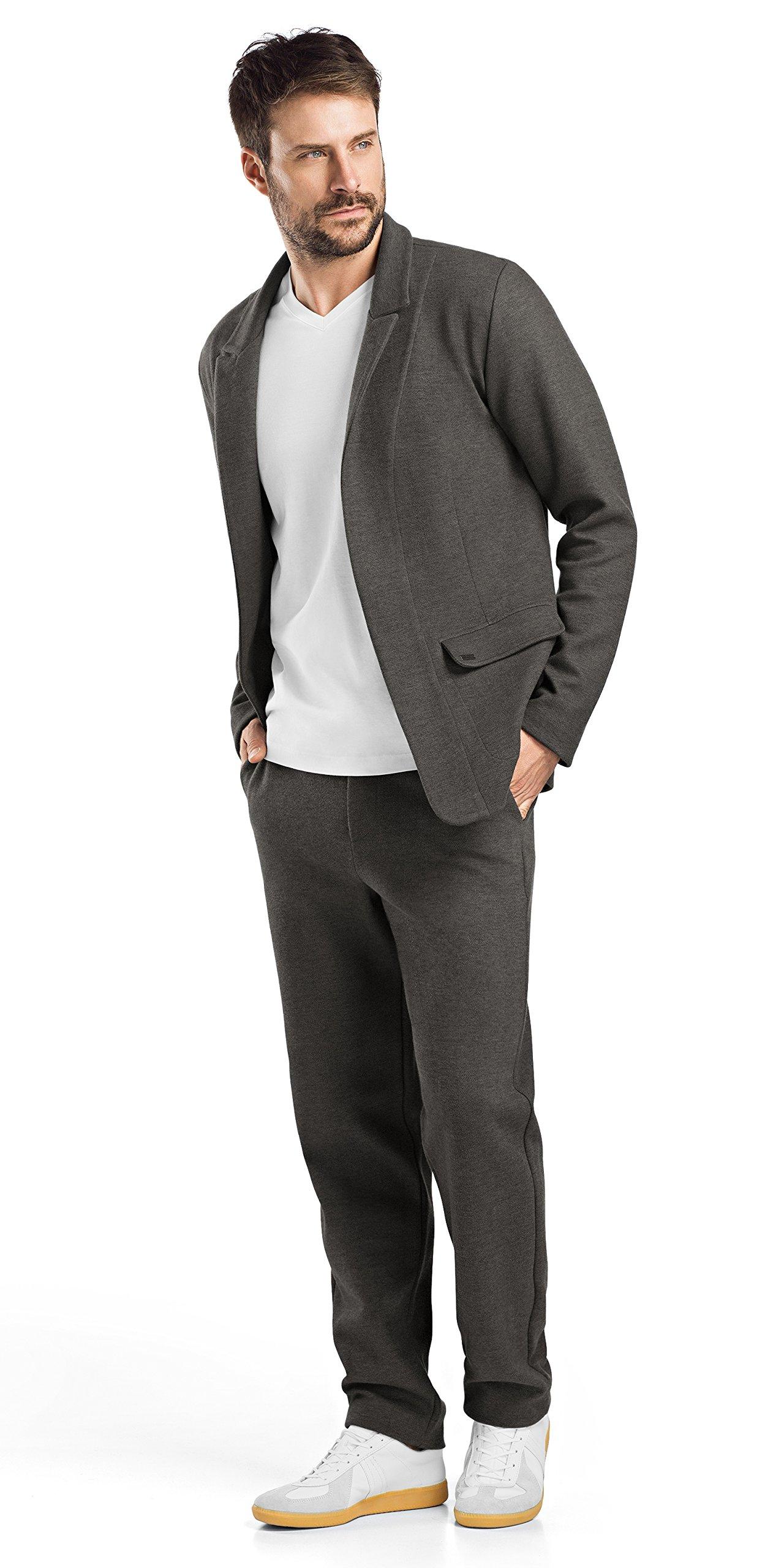 Hanro Men's Paul Blazer, Twill Pattern, Medium