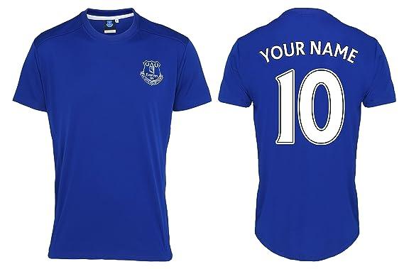 D2W Everton FC Fútbol oficial réplica camiseta deportiva con elección de 2 Color impreso nombre &
