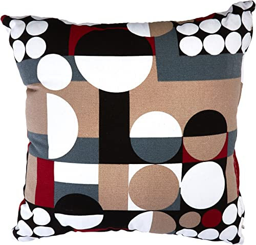 Cortesi Home Mondo Decorative Soft Velvet Square Accent Throw Pillow with Insert, 16 x 16 , Multi