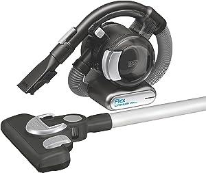 BLACK+DECKER 20V MAX Flex Cordless Stick Vacuum with Floor Head and Pet Hair Brush (BDH2020FLFH) (Renewed)