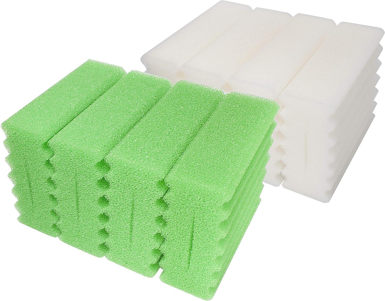 LTWHOME Esponjas de Filtro de Espuma Gruesa de Repuesto para Filtro de Estanque biol/ógico SunSun CBF-350