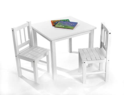 Amazon.com: Lipper International 513W Child\'s Table and 2 Chairs ...