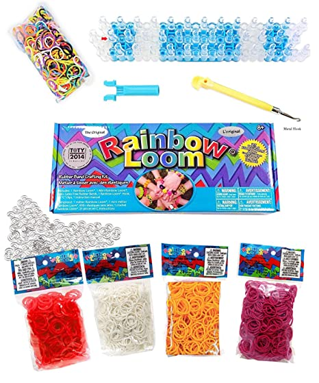 amazon com the original rainbow loom bands value pack complete set rh amazon com Table Looms for Weaving Newcomb Loom Manual