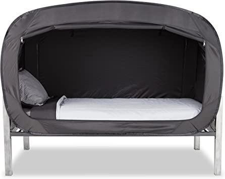 Amazon Com Privacy Pop Bed Tent Twin Black Kitchen Dining