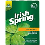 Irish Spring Deodorant Soap, Original Bar Soap (8 Count)