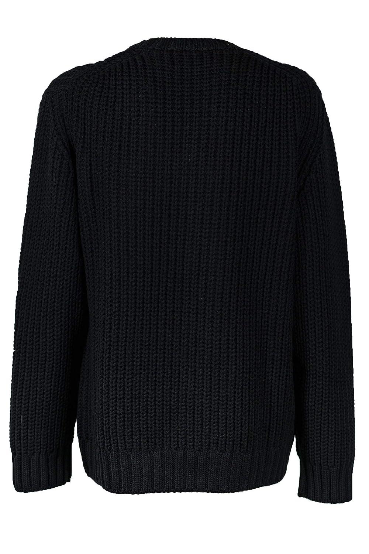 Dondup Mens 56UM871M00581002999 Black Wool Sweater