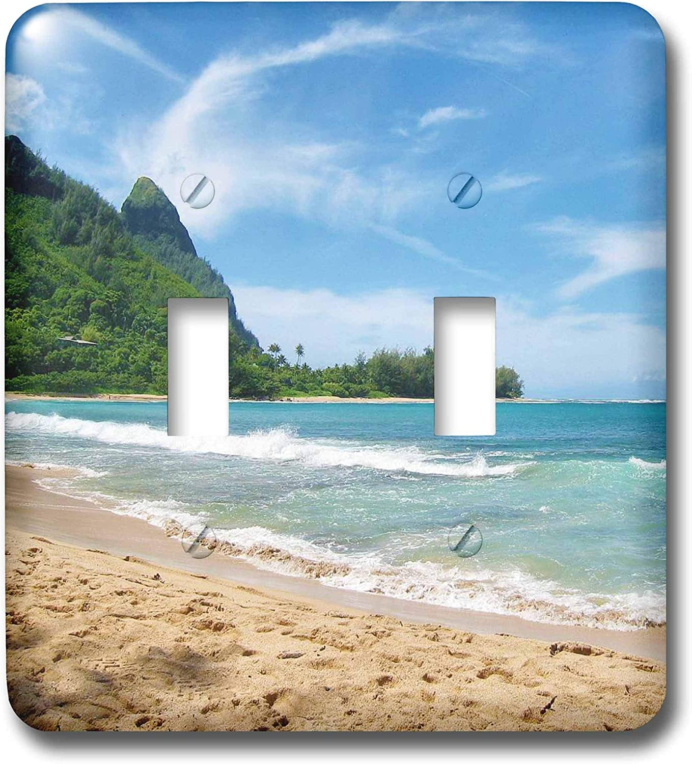 3drose Lsp 45292 2 Blue Ocean Hawaii Tropical Photography Double Toggle Switch Switch Plates Amazon Com