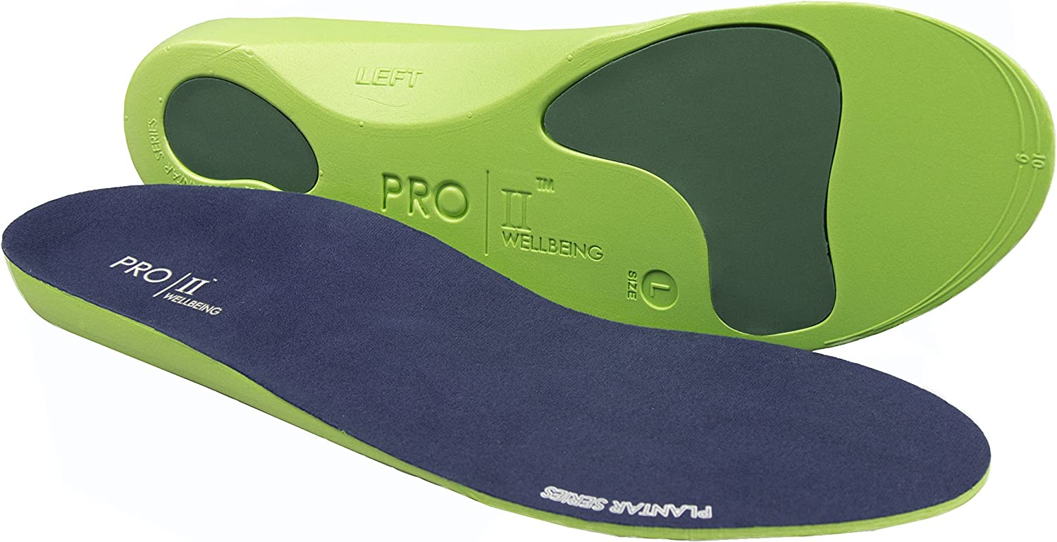Metatarsal and Heel Cushion for Plantar Fasciitis Treatment PRO 11 WELLBEING 2 Pairs Orthotic Insoles Full Length with Arch Supports