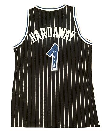 4ac896379 ... Anfernee Penny Hardaway Autographed Orlando Magic Black Swingman Signed  Basketball Jersey JSA COA ...