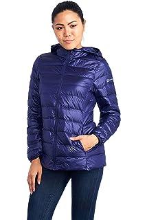 84f7e70a059 alpine swiss Eva Womens Down Jacket Hooded Puffer Coat Packable Insulation  & Light