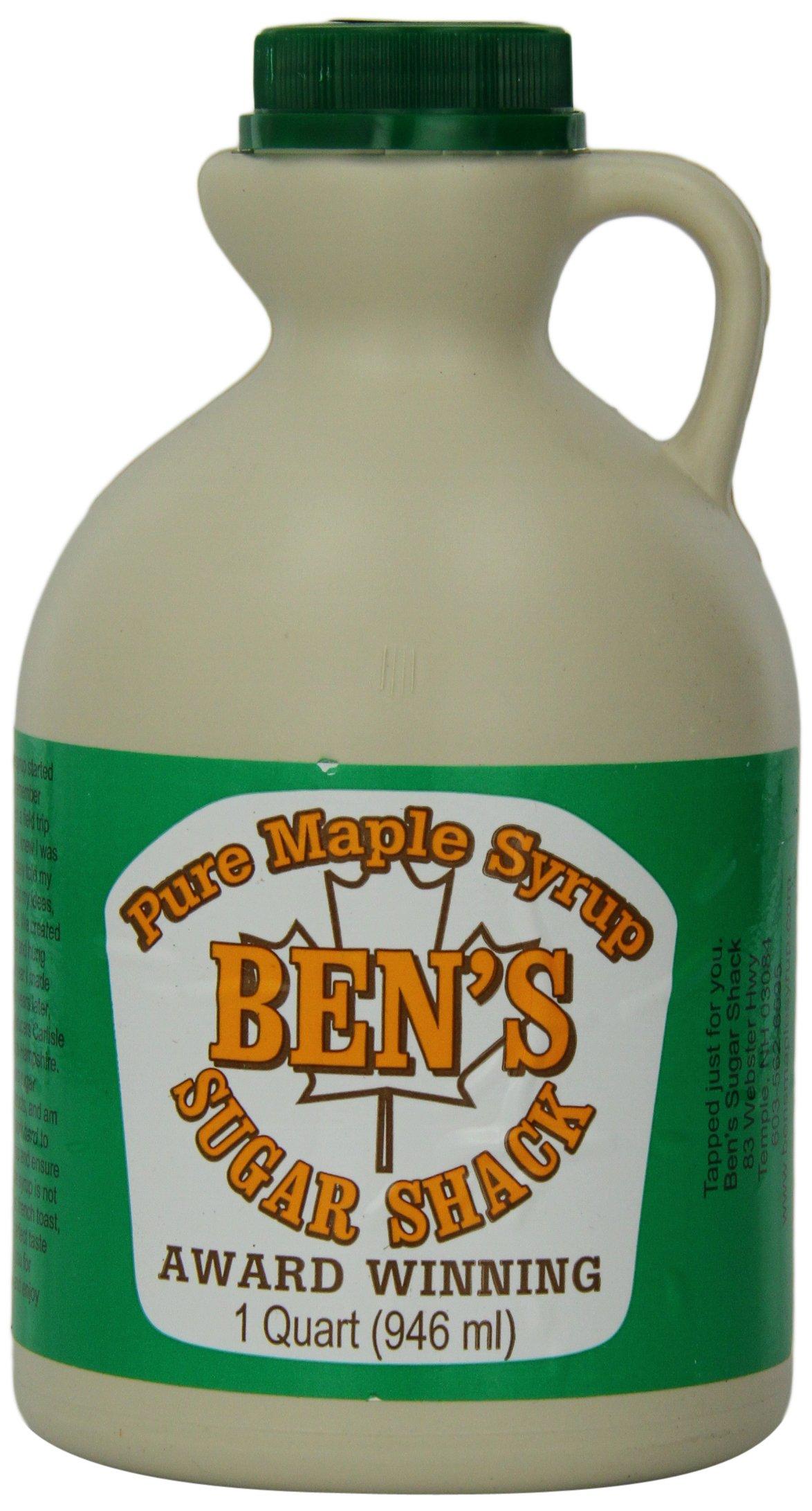 Ben's Sugar Shack, Grade A Dark Amber, of Pure Maple Syrup Award Winning, 1 Quart (946 ml)